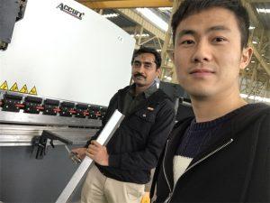 Algeria Client Testing Press Máquina de freno en nuestra fábrica