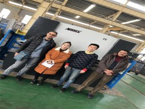 Los clientes de Egipto compran la máquina del freno de la prensa de Accurl Companies