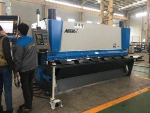 Máquina de guillotina hidráulica MS8-8x3200 con sistema de soporte de hoja