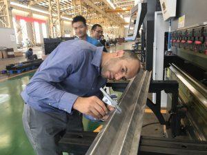 Máquina de prueba cliente de Irán en nuestra fábrica 2