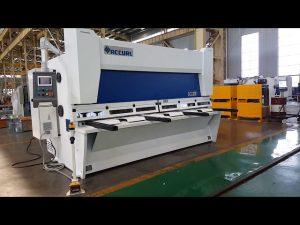 Máquina de corte de guillotina con rastrillo variable maestro con sistema CNC ELGO P40T