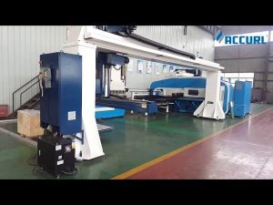 estilo de pórtico de 5 ejes cnc prensa freno flexión / torreta punzón prensa